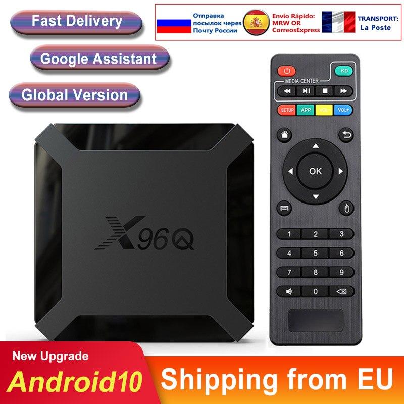 X96q android caixa de tv inteligente android 10 allwinner h313 quad core 2g 16gb 4k 3d netflix x96 q mini smart tv conjunto caixa superior media player