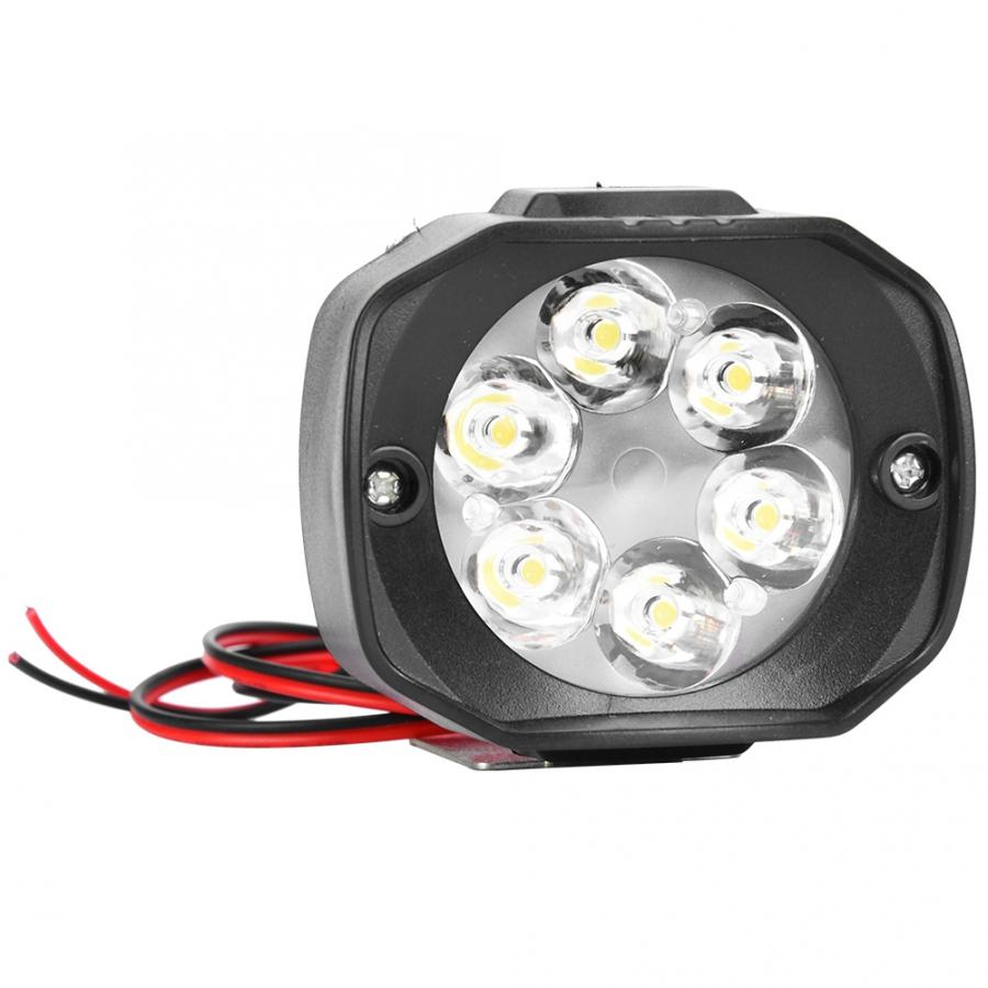 6 LED Electric Bicycle Motorcycle Bike Highlight Headlight Front Light Lamp E-bike Parts Motorcycle Headlight Outdoor Equipment