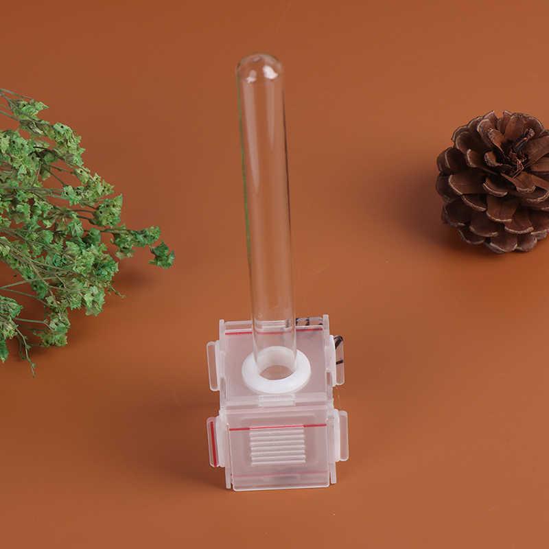 4x4x4cm ברור זכוכית צינור נמלה מים מזין עם פעיל אזור נמלים חוות אקריליק חרקים קן בית