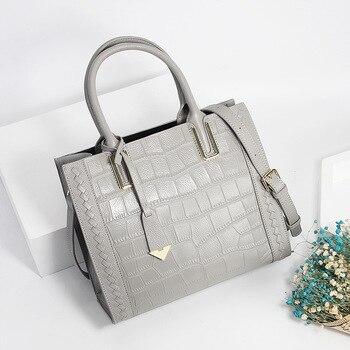 Full-Grain Leather Ladies Handbag Fashion Shoulder/Crossbody Bag