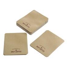 100 Pcs Kraft Paper Coffee Bag Aluminum Foil Stand Up Pouch Food Pack 12 x 10cm/4.8 x 3.9inch