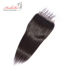 Image 2 - 6*6 Lace Closure Brazilian Straight Closure Natural Color Arabella Remy Hair Pre Plucked Bleached Knots Closure With Baby Hair