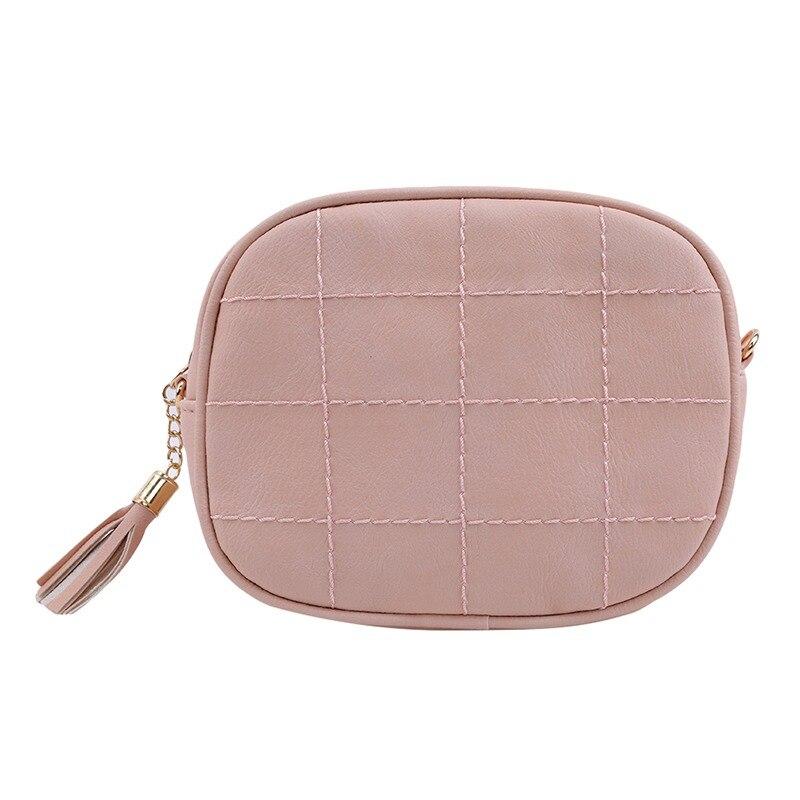 2019 Korean Womens Messenger Bag Fashion Leather Small Square Handbag Tassel