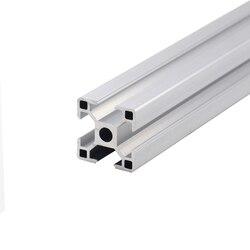1 шт. 3030 алюминиевый профиль Экструзия 100-800 мм длина Европейский стандарт анодированный линейный рельс для DIY ЧПУ 3d принтер верстак