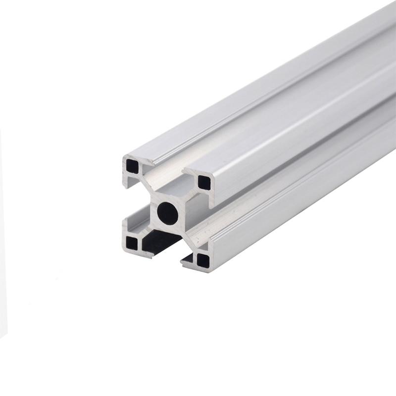 1 шт. 3030 алюминиевый профиль экструзии 100-800 мм длина Европейский стандарт анодированный линейный рельс для DIY CNC 3D принтер верстак