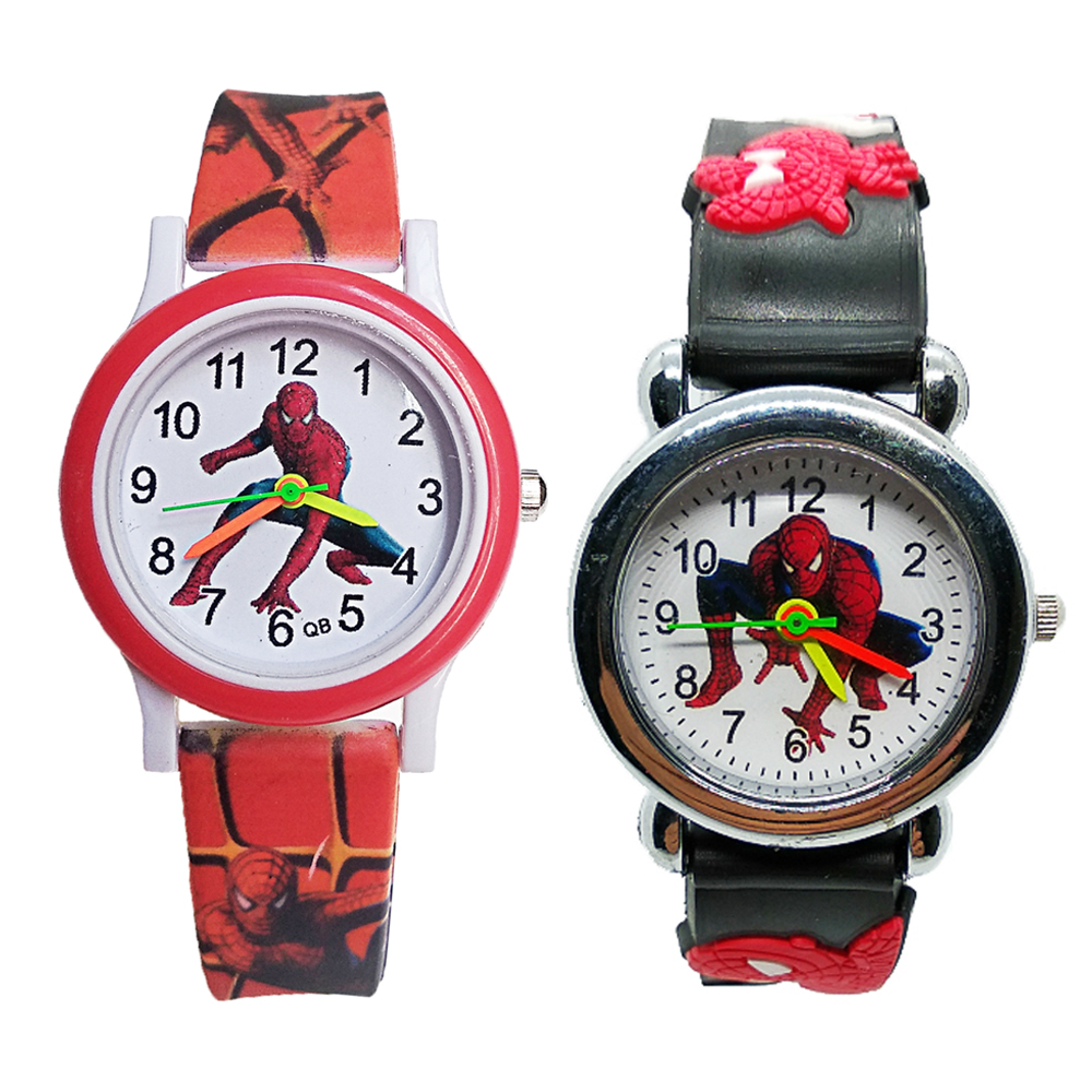 Printed Strap Spiderman Watch Children Watch Boys Girls Clock Gift Waterproof Analog Sports Kids Wrist Watches Child Bracelet