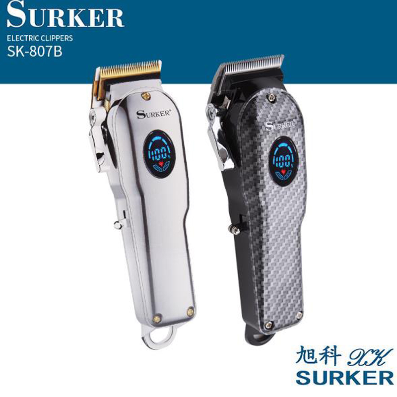 Surker Electric Hair Trimmer SK-807B Oil Head Cordless Rechargeable Hair Clipper 1800mA Long Use Beard Trimmer Haircut Machine
