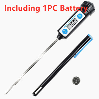 1PC Electronic Digital Food Thermometer BBQ Meet Thermometer Household Long Probe Thermometer For Kitchen Cooking Cake Candy image