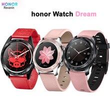 "Original Honor Watch Dream Smart Watch Sport Sleep Run Cycling Swimming mountain GPS 1.2"" AMOLED Color Screen 390*390 Watch"