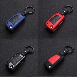 Защитный чехол для автомобильных ключей из углеродного волокна силикагеля для Audi A3 A4 A5 A6 A7 A8 B6 B7 B8 R8 Q3 Q7 TT автомобильные складные аксессуары д...