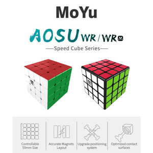 Image 5 - Moyu Aosu WR M Magnetic 4x4x4 magic cube 4x4 speed cube puzzle cubo magico Competition Cubes
