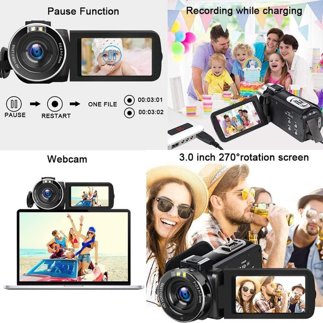 KOMERY New Release Video Camcorder 4K WiFi 48MP Built-in Fill Light Touch Screen Vlogging For Youbute Video Digital Camera