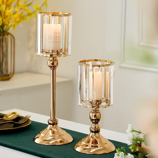 Metal pillar candle holders pillar