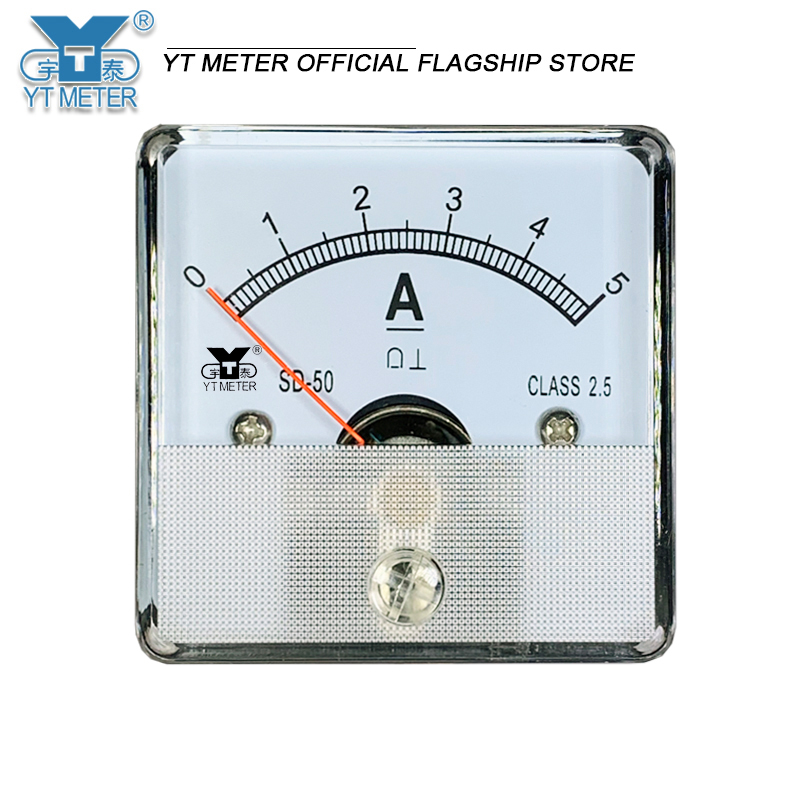 Sd50-a direct current meter direct current meter direct current through dc1a 2A 2A 3A 5A 10A 15A 20A pointer ammeter 45mm pointe