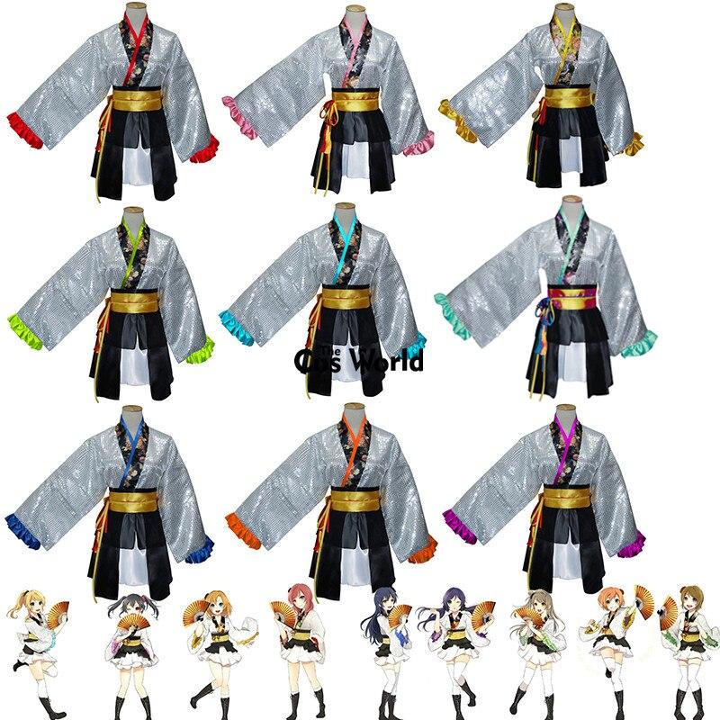 Love Live  Kaguya No Shiro De Odoritai  Angelic Angel Rin Maki Hanayo Nico Tops Dress Kimono Yukata Uniform Cosplay Costumes