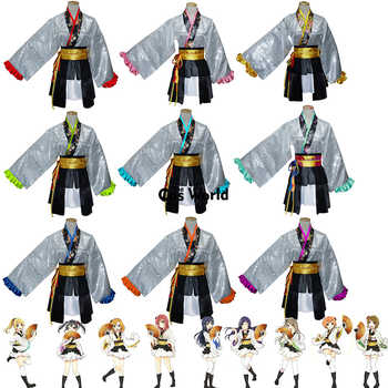 Love Live  Kaguya No Shiro De Odoritai  Angelic Angel Rin Maki Hanayo Nico Tops Dress Kimono Yukata Uniform Cosplay Costumes - DISCOUNT ITEM  25% OFF All Category