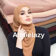 Islam Crinkle Cloud Hijab Schal Shawl Muslim Langer Schal Stola Wrap Folewr-8 Damen Kopfbedeckungen