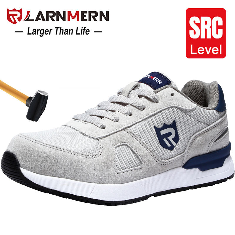 LARNMERN Men's Work Safety Shoes Steel Toe Construction Sneaker Breathable Lightweight Anti-smashing Anti-static Non-slip Shoe
