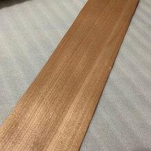 טבעי אמיתי אדום אגוז עץ פורניר פרוס 20cm x 2.5m גיבוי עם רקמות עבור ריהוט ש/C ישר תבואה