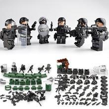 Military Special Forces Soldaten Ziegel Figuren Guns Waffen Kompatibel Legoings Bewaffneten SWAT Bausteine Ww2 Spielzeug