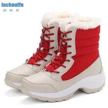 Зимние кроссовки, женские плюшевые зимние ботинки, Мужская водонепроницаемая Спортивная обувь для мужчин, новинка, ботинки для пешего туризма, ShoesEU35-42 для альпинизма
