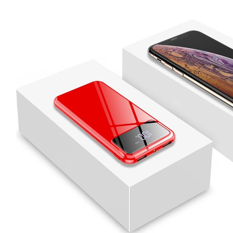Внешний аккумулятор 30000 мАч Внешний аккумулятор портативное быстрое зарядное устройство для всех смартфонов с зарядным устройством банк полный экран водонепроницаемый