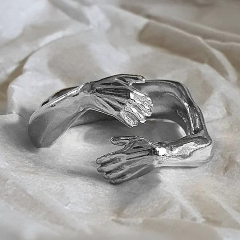 Готический Hug мышцы руки кольца для мужчин и женщин Регулируемая манжета кольцо вечерние свадебные парные кольца старинные ювелирные издел...