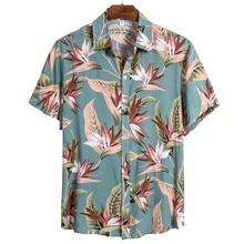 Blouse Shirts Short-Sleeve Printing Plus-Size Casual Summer Men M-3XL Social Ethnic Camisas