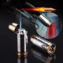 Bullet shape Torch Jet Lighter Metal Creative Butane Gas Lighter Cigarette Cigar Lighter Carry Beer Opener Gadgets For Men цена 2017
