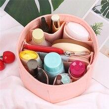 2021 Insert Bag Organizer for Makeup Handbag with Zipper Organizer Inner Purse Portable Cosmetic Bags