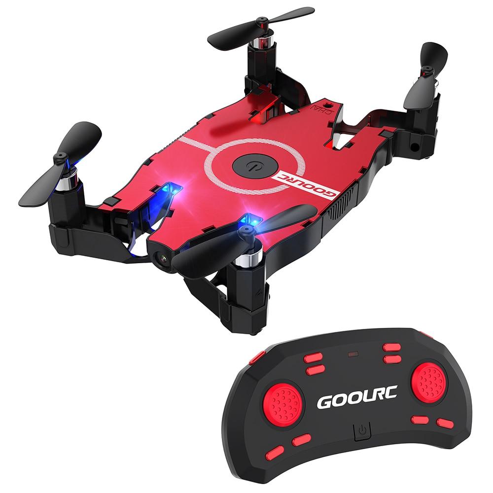 GoolRC T49 6-Axis Gyro WIFI FPV RC Foldable Drone HD Camera Quadcopter Foldable G-sensor RC Selfie Pocket Drone RTF RC Toys Gift