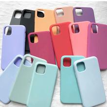 Oficjalny oryginalny silikonowy pokrowiec na iPhone 12 Mini SE 2020 6 7 6s 8 plus pokrowiec na iPhone 11 12 Pro XS Max XR X tanie tanio CN (pochodzenie) Pół-owinięte Przypadku silicone liquid cover for iphone 12 mini 11 pro max Apple iphone ów Iphone 6