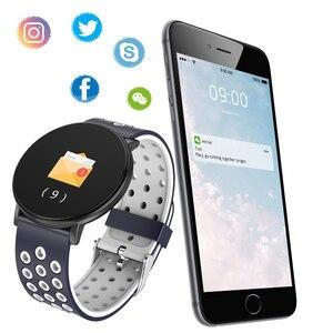 Image 5 - GEJIAN nowy inteligentny zegarek Android wodoodporny sport mężczyźni i kobiety smartwatches zdalny aparat tętno zegarek na rękę