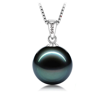 YANHUI With Certificate Natural Freshwater Pearl Pendant Necklace Fashion 925 Silver Boho Statement Necklace Pearl Jewelry DN007