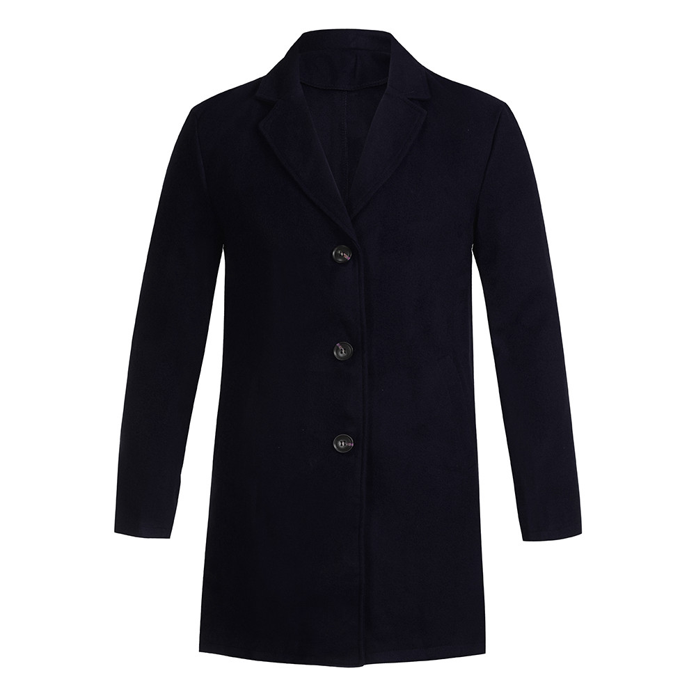 Men's Overcoat Fashion Autumn Winter Button Slim Long Sleeve Suit Jacket Trench Coat Casual high quality Mens Tops Blouse 020New 5