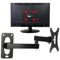 Staffa per montaggio TV supporto per telaio display regolabile supporto per uso domestico appeso a parete girevole rivestimento facile da installare per 10-24 pollici