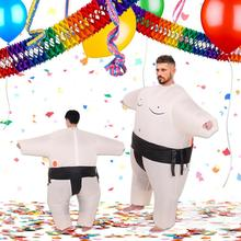 Sumo Anime Inflatable Suit Halloween Costume for Adult Kids Wrestling Cosplay Party