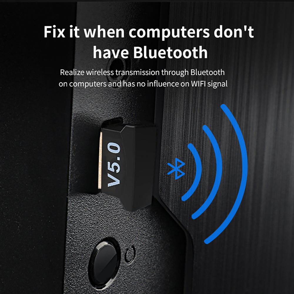 USB Bluetooth 5.0 Adapter Transmitter Bluetooth Receiver Audio Bluetooth Dongle Wireless USB Adapter for Computer PC Laptop 5