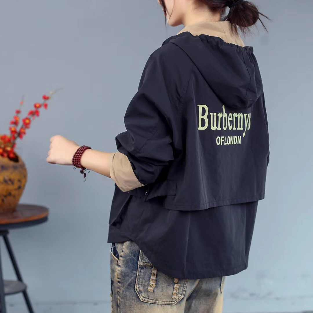 2019 New Style Autumn New Style Short Casual Loose-Fit Printed Letter Small Coat Literature And Art WOMEN'S Jacket Cardigan
