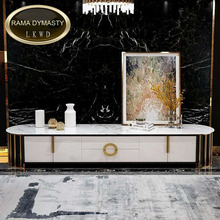 Marble Living-Room Sofa-Table/tv-Stand for Stainless-Steel High-Quality