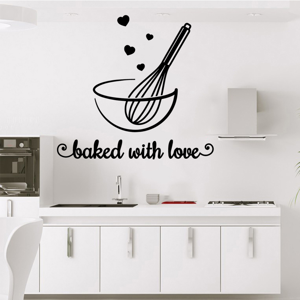 ALL YOU NEED IS LOVE /& A BOTTLE OF WINE VINYL DECOR DECAL WALL LETTERING KITCHEN