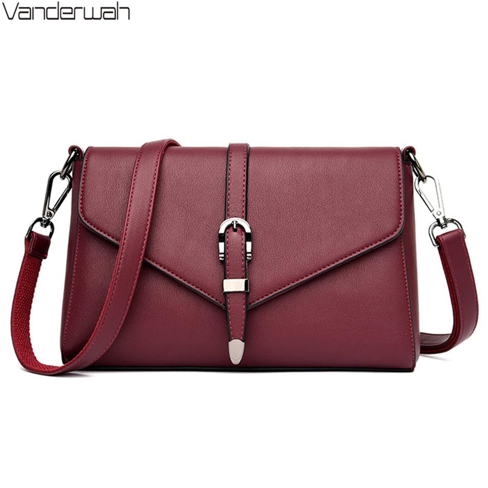 Women Simple Fashion Shoulder Bags 2020 Ladies High Quality Luxury Crossbody Flap Bags Designer Handbags Bolso Bandolera Mujer