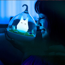 Night Light Style Totoro USB Portable LED Nightlight Lamp For Gift Touch Sensor For baby Bedside Lamp  LED Night Light novelty lamp usb charging night light touch sensor silicone pat lamp cartoon led bedside atmosphere nightlight for christmas