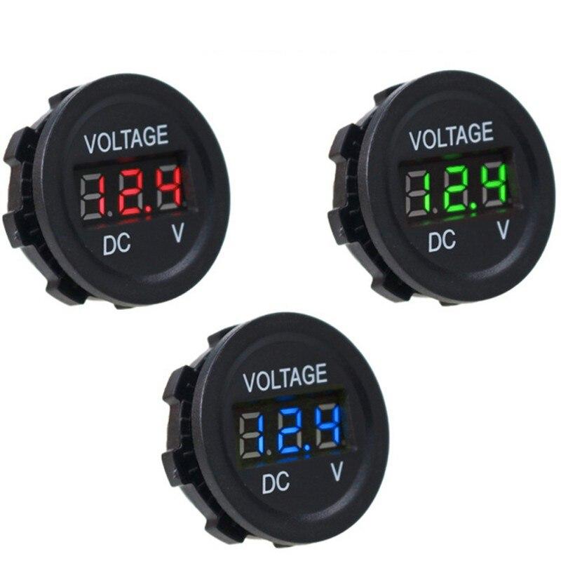 Для мотоциклов и автомобилей цифровой светодиодный Дисплей вольтметр в режиме реального времени отслеживать Батарея Напряжение изменение для автомобилей и мотоциклов 3 значный AC вольтметр тестер|Кабели, адаптеры и разъемы| | АлиЭкспресс