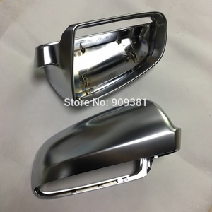 Image 5 - BODENLA Matt Chrome Mirror Cover Rearview Side Mirror Cap S Line For Audi Audi A4 B6 B7 A6 C6 (2003 2007) S4