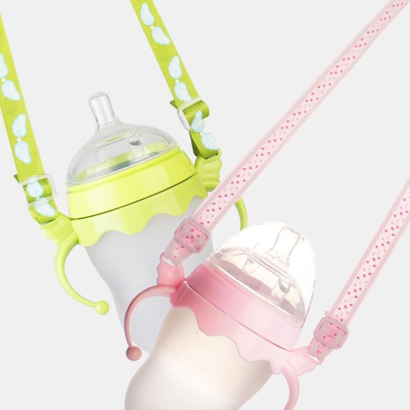 2pcs/Set Baby Feeding Bottle Plastic Handles Anti-lost Strap Holder For Comotomo