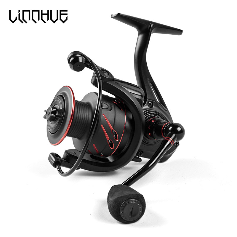 LINNHUE 12+1 Bearing Fishing Reel Full Metal Spool Spinning 5.0: 1 Handle 10 Kg Max Drag Power accessories