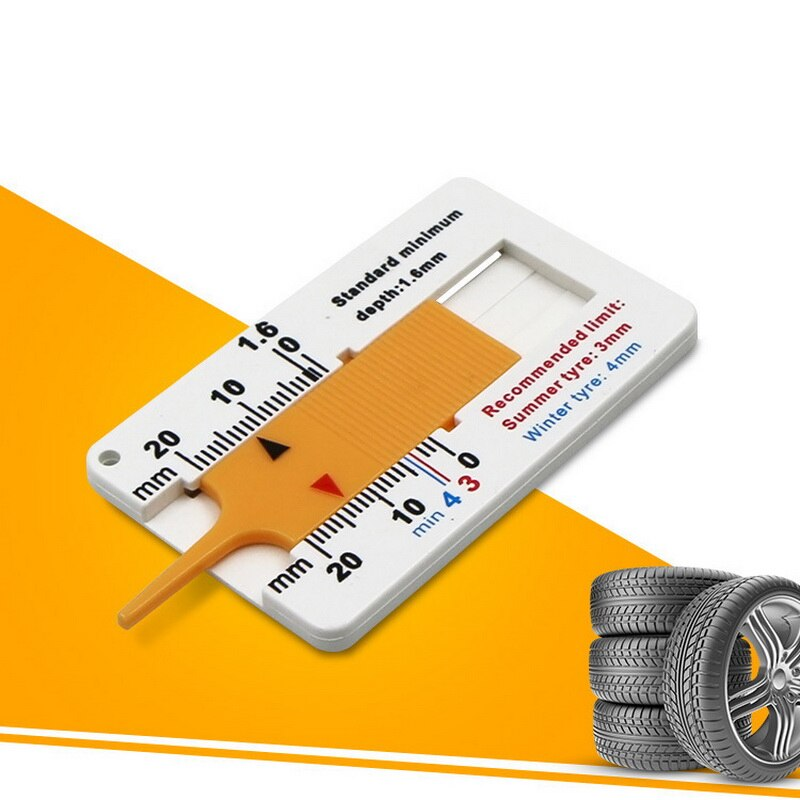 Auto Tyre Tread Depth Gauge Caliper Auto Car Motorcycle Caravan Trailer Wheel Measure Caravan Trailer Repair Tool Wholesale