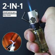 Spray-Gun Nozzle Lighters Key-Ring Smoker Butane-Jet Household Items Welding-Torch Gas