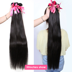 Image 4 - 30 32 36 40 Inch Straight Hair Bundles Long Length Indian Hair Weave Bundles 100% Human Hair Extentions Natural Color Remy Hair